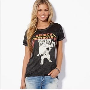 American Eagle cat brunch destroyer  T-shirt